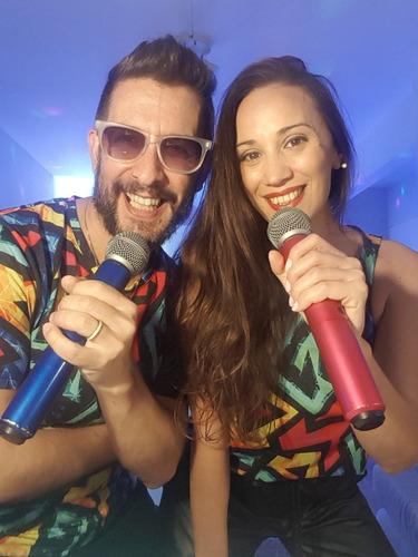 show fiestas on line presencial por zoom animacion dj duo