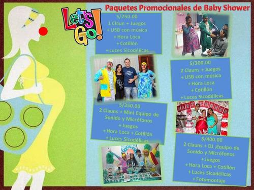 show infantil chicoteka baby shower claun despedida horaloca