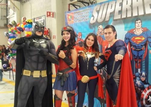show infantil de superman y super heroes para cumpleaños!!