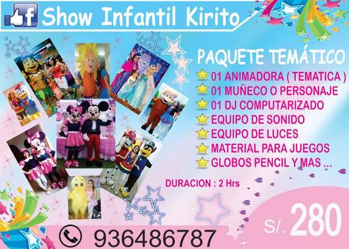 show infantil / show de títeres