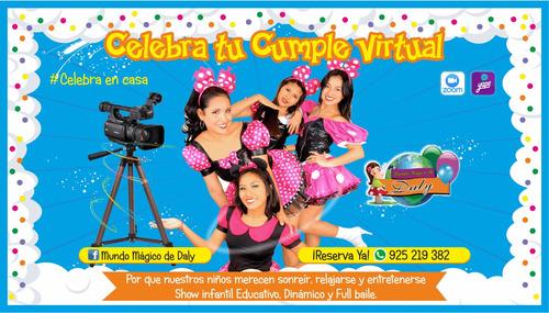 show infantil virtual s/.40 todo el perú gratis video saludo