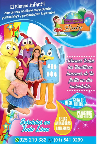 show infantil220+caritas pintadas gratis/temático /filmacion