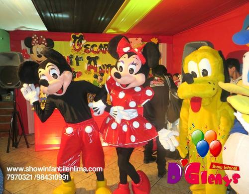 show infantiles d glenys temáticos paga con visa 984310991