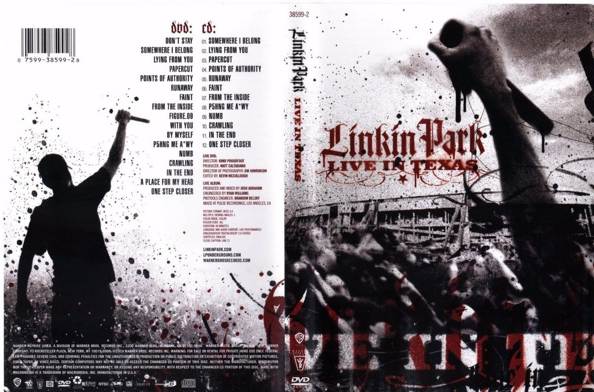 Show Linkin Park Live In Texas Dvd Completo