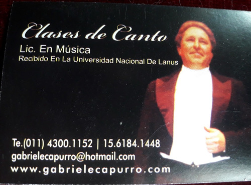 show lírico  tenor arias óperas canzonettas