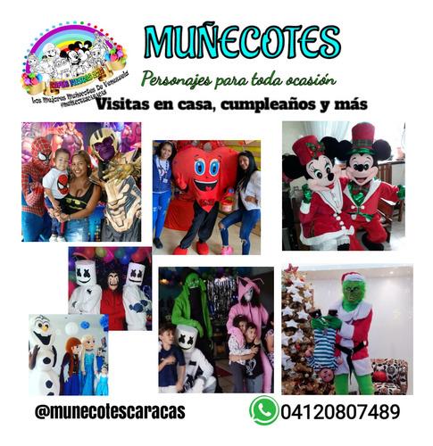 show muñecotes personajes mickey paw patrol fiesta infantil