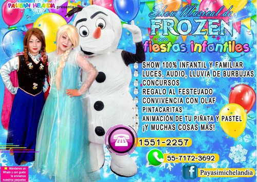 show musical de frozen para tu fiesta - cdmx/edomex