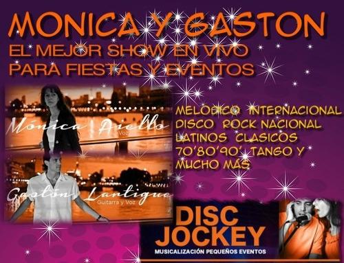 show musical en vivo + disc jockey (total 4 horas): 5000$