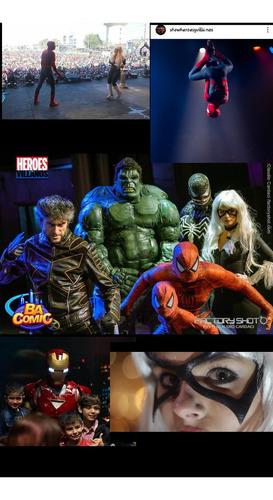 show obra teatro fiestas superheroes zoom super real!
