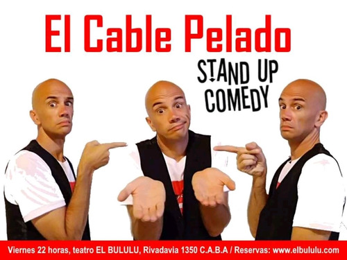 show online stand up, musical - el cable pelado zoom-youtube