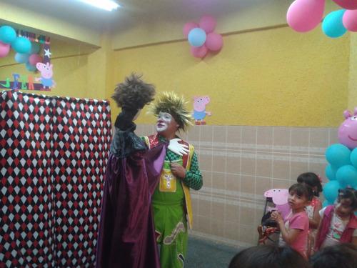 show payaso, mago, churrumaiz y limoncito fiestas infantiles