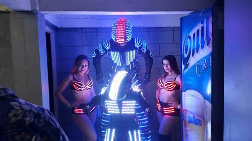 show robot led cybertron co2 cuadro selfie zona norte