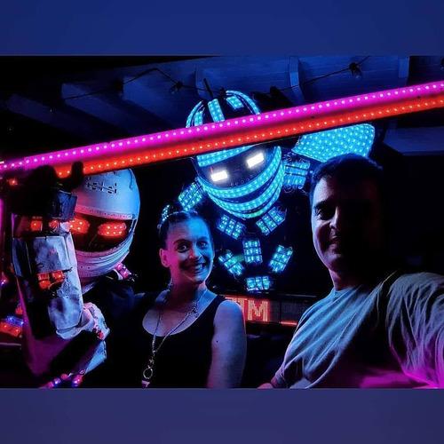 show robot led megaman el mejor show,promo!!