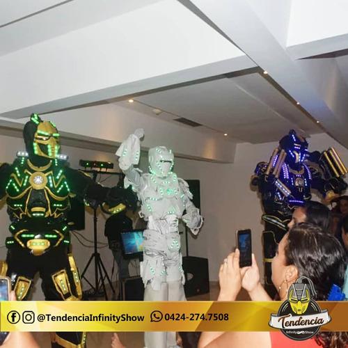 show robot led,tequilero, show hora loca led, mimos.