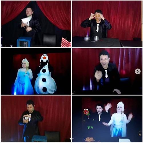 show virtual de frozen 2, magia, personajes y animación zoom