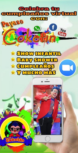 show virtual payaso coketin