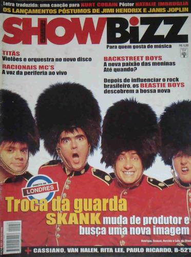showbizz no. 156 skank titãs racionais backstreet boys beast