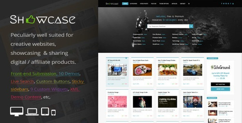 showcase = responsivo wordpress grid / maçonaria blog tema