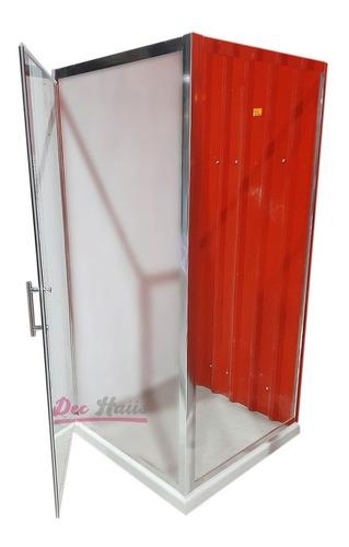 shower door al piso puerta abatible  90x90x185cm/ dec-haus