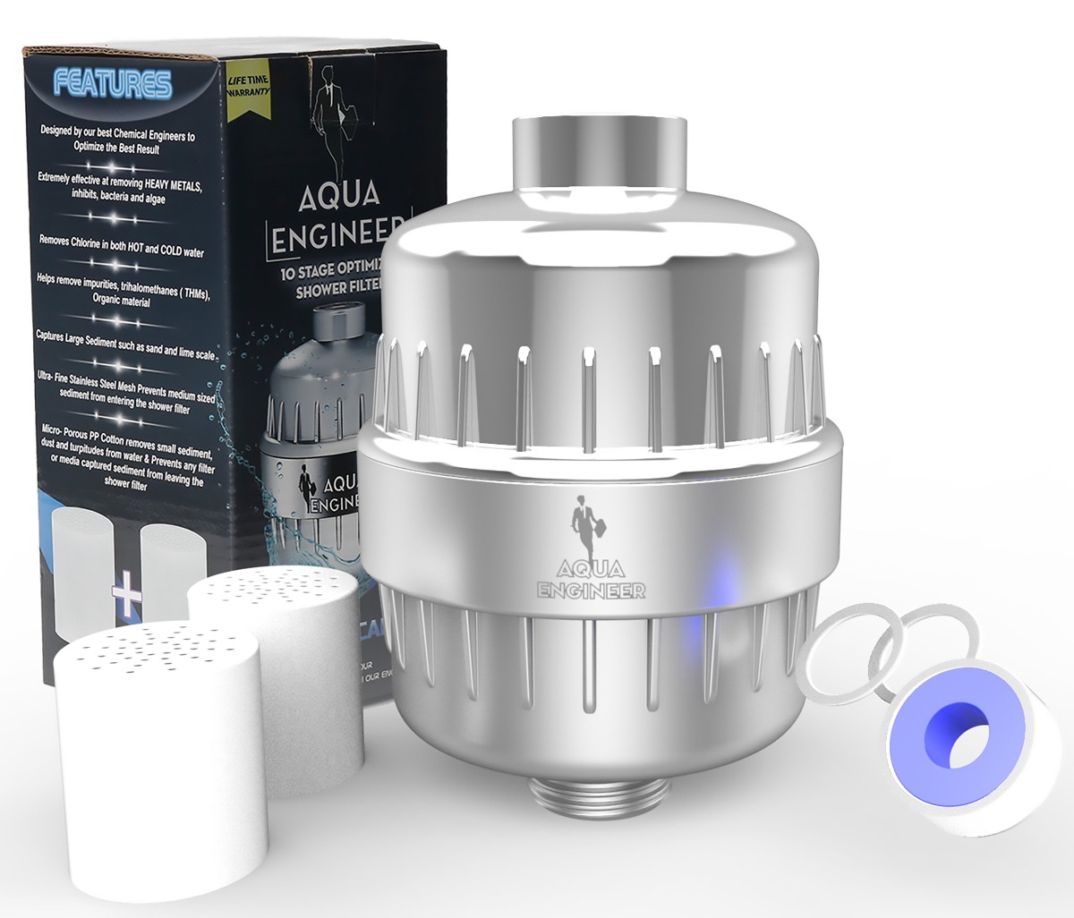 Shower Filter Water Softener 10 Stage For Any Shower Head