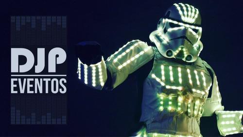 shows de robot led depredador y stormtrooper - fotocabina