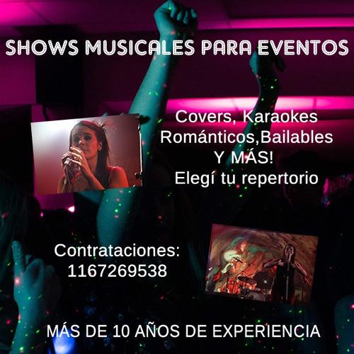 shows musicales para eventos - pop, cumbia, rock, y karaoke!