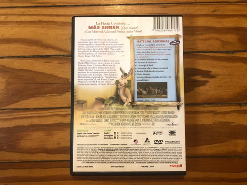 shrek película dvd original como nueva oferta 3x2 imperdible