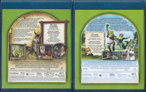 shrek the whole story las 4 películas en blu-ray importado
