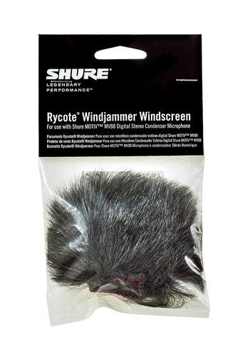 shure amv88-fur rycote windjammer para mv88