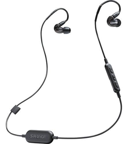 shure  audífonos in-ear  bluetooth color negro se215-k-bt1