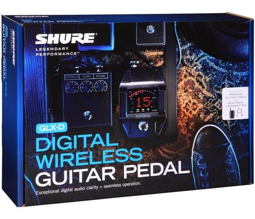 shure glxd16 sistema inalámbrico guitarra o bajo con pedal