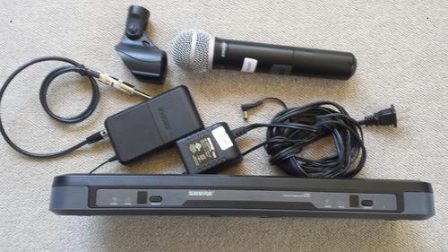 shure microfone sem fio+lapela+ transmiter guitar sem fio