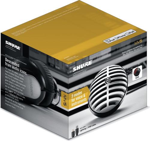 shure mv5 ltg microfono condensador digital en belgrano tm