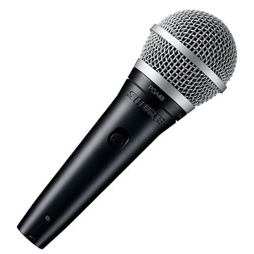 shure pga48 microfono vocal dinamico pie antipop cable