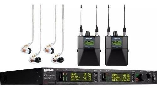 shure psm1000 p10tr425cl sistema doble de monitoreo in ear s
