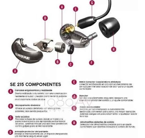 shure se215-k  auriculares intraurales profesionales