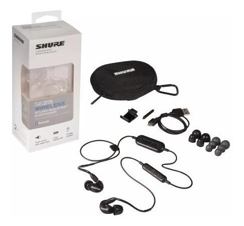 shure se215-k-bt1 auricular intraural negro bluetooth bateri