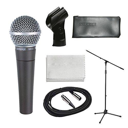 shure sm58-lc micrófono vocal dinámico cardioide bundle con