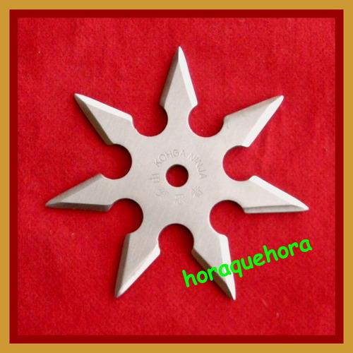 shuriken (estrella ninja) de 3;4;5;6;7; u 8 puntas + estuche