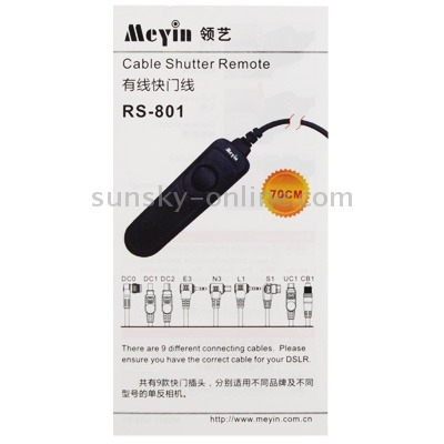 shutter control release cord meyin 801 dc1 remote switch