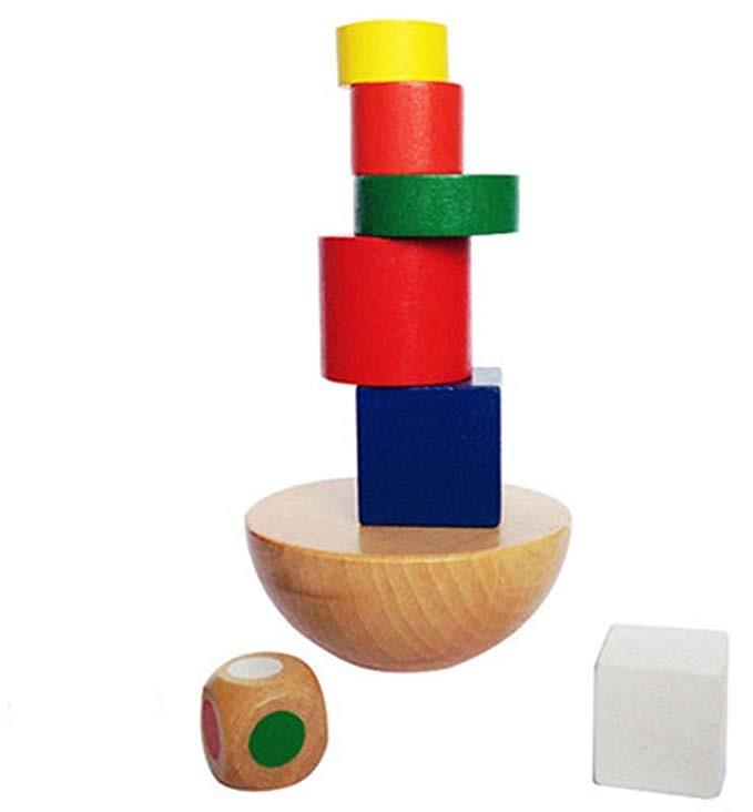 ecba2b431 Shuyue Tabla Equilibrio Apilamiento Torre Puzzle Madera Bloq ...