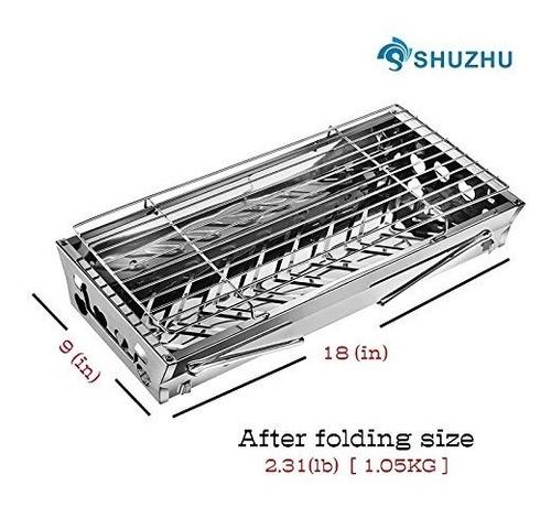 shuzhu mesa parrilla portatil plegable pequeña y ligera est