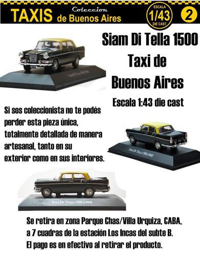 siam di tella 1500 taxi de buenos aires 1:43 die cast