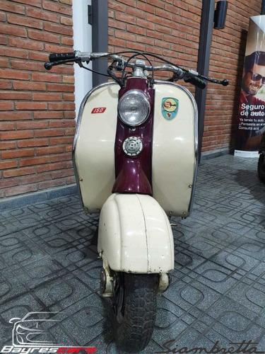 siambretta 150 cc marron y beige