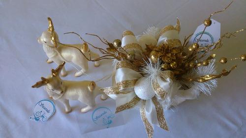 sicarulu, artesanía ceramica de lujo. trineo blanco.