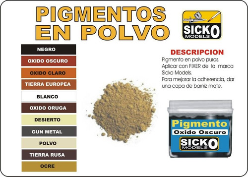 sicko color ocre pigmento en polvo