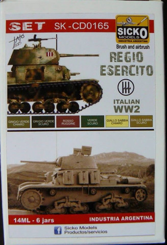 sicko color set 165  regio esercito italian ww2