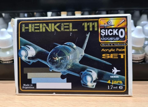 sicko color set heinkel 111 4 colores acrilicos