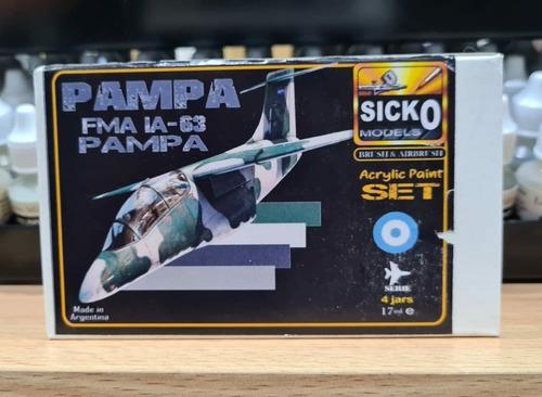 sicko color set pampa fma ia-63 4 colores acrilicos