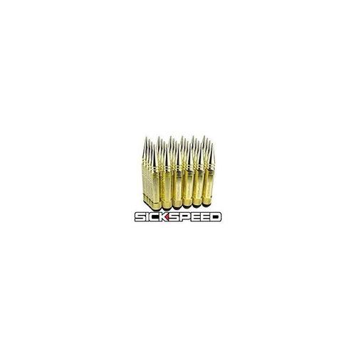 sickspeed 24 piezas de acero de 24 quilates, 5 1/2 tuercas d